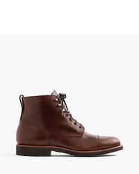 J.Crew Kenton Leather Cap Toe Boots