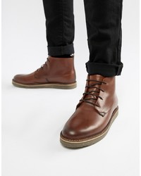 Dune Lace Up Boots With Pebble In Brown