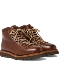 Brunello Cucinelli Shearling Lined Leather Boots