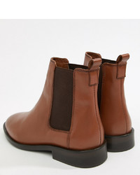 ASOS DESIGN Aura Leather Chelsea Ankle Boots Leather