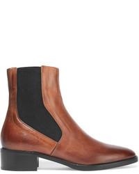 Vince Carrington Burnished Leather Chelsea Boots Tan