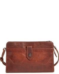 Melissa leather crossbody clutch brown medium 951850