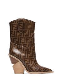 Fendi 110 Logo Cowboy Boots