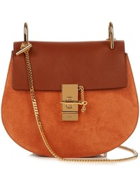 Chlo drew small leather and suede cross body bag medium 959898