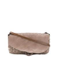 Tagliovivo Woven Flap Shoulder Bag