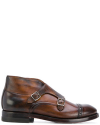 Eleventy Cross Buckle Derby Shoes
