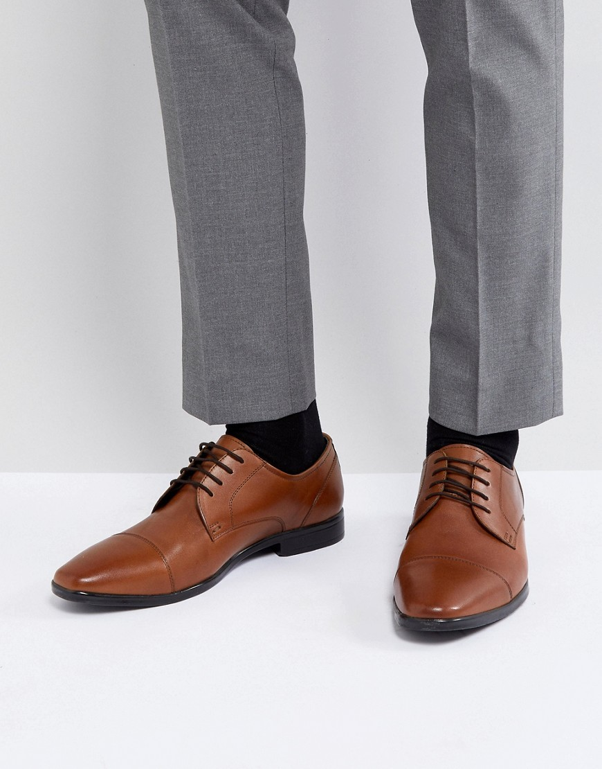 Pier One Derby Shoes In Tan Leather