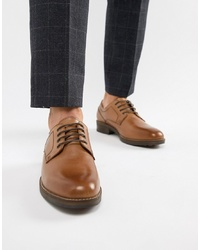 Red Tape Elcot Lace Up Brogue Shoes In Tan