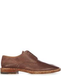 Maison Margiela Tarnished Lace Up Leather Derby Shoes