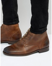 Chukka boots in brown leather with fleece lining medium 1155691