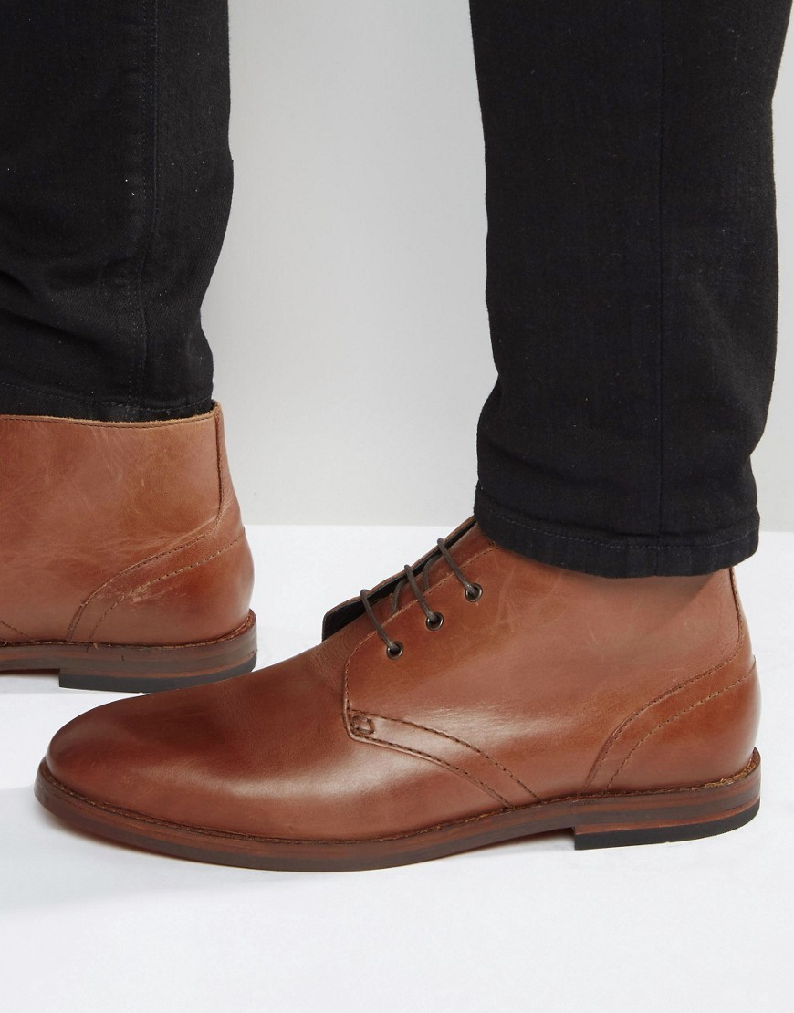 H By Hudson Houghton Leather Chukka Boots 54 Asos Lookastic Uk