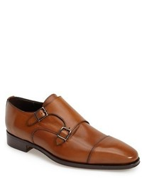 Brown Leather Double Monks