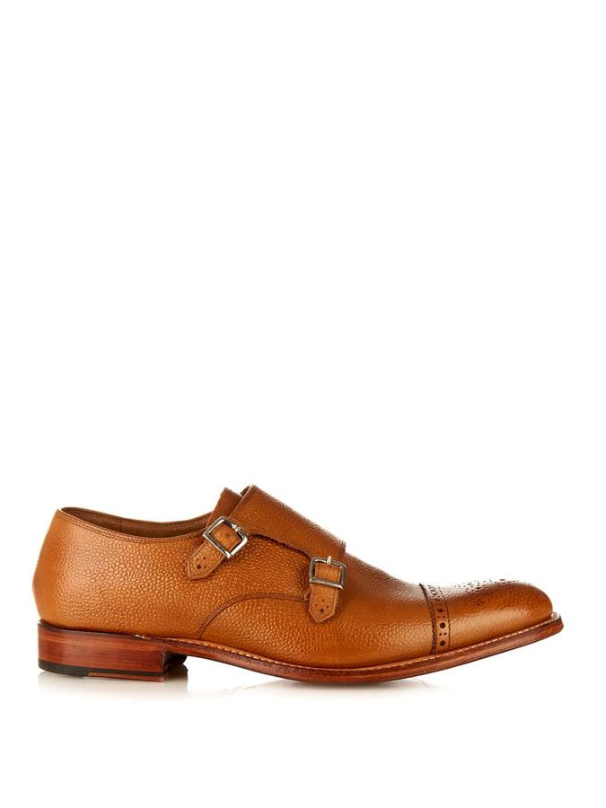 Buy Men Shoes / Grenson Ellery Leather Monk Strap Shoes