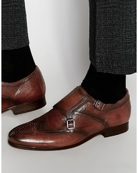 Hudson Londoncastleton Leather Monk Shoes