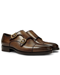 Tom Ford Wessex Leather Monk Strap Shoes