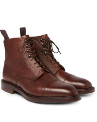 Kingsman George Cleverley Cap Toe Pebble Grain Leather Boots