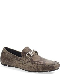 Salvatore Ferragamo Parigi Genuine Snakeskin Driving Shoe