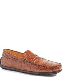 Zelli Classic Exotics Zelli Monza Genuine Crocodile Driving Shoe