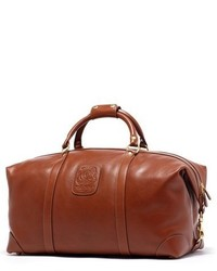 Ghurka Cavalier Ii Leather Duffel Bag Brown