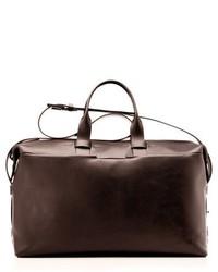 Troubadour Leather Weekend Bag Brown