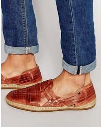 Glasto leather woven espadrille medium 583648