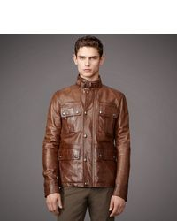 Brown Leather Field Jacket