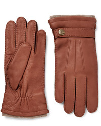 Gloucester cashmere lined full grain leather gloves medium 809028