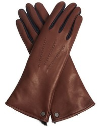 Rabbit fur lined leather gloves medium 347674