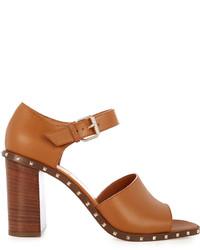 Soul leather block heel sandals medium 1033985