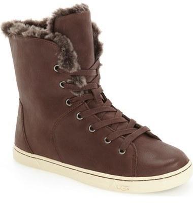 b69bd1f156e £123, Ugg Croft Luxe Genuine Shearling High Top Sneaker