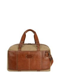 Tommy Bahama Canvas Leather Duffel Bag