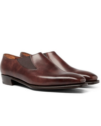 George Cleverley Bulow Burnished Leather Loafers
