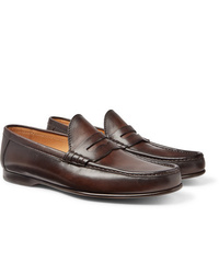 Ralph Lauren Purple Label Burnished Leather Penny Loafers