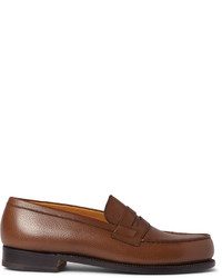 Jm Weston 180 The Moccasin Grained Leather Loafers