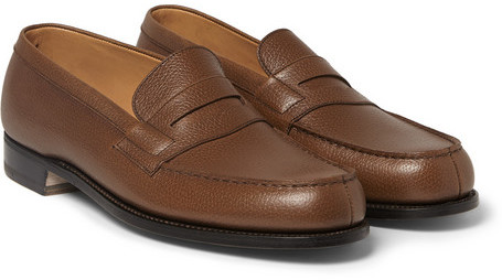 J.M. Weston 180 The Moccasin Leather Loafers - Dark brown Jeu Ebay Sortie Footlocker Finishline Dédouanement Prix Le Plus Bas nlfO12vg7m