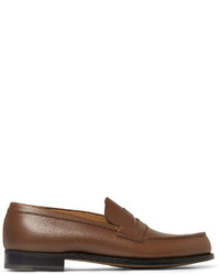Jm Weston 180 The Moccasin Leather Penny Loafers