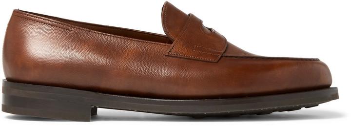 23f2ea6bad2 ... John Lobb Lopez Pebble Grain Leather Penny Loafers ...