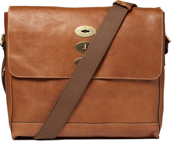 577cd08f68 ... Brown Leather Messenger Bags Mulberry Brynmore Leather Messenger Bag ...