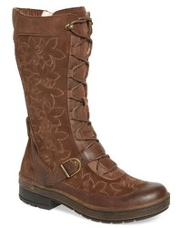 Hawthorn embroidered mid calf water resistant boot medium 793120
