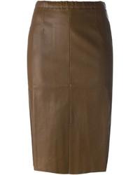 Stouls leather pencil skirt medium 354178