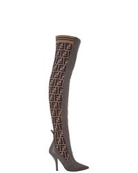 Fendi Ff Motif Thigh High Boots