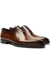 Berluti Alessandro Capri Leather Whole Cut Oxford Shoes