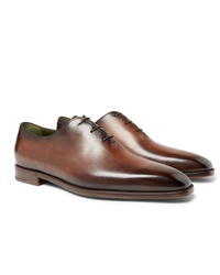 Berluti Blake Whole Cut Venezia Leather Oxford Shoes