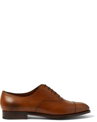 Edward Green Chelsea Burnished Leather Oxford Shoes