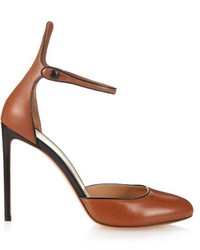 Ankle strap leather pumps medium 527361