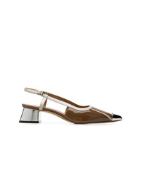 Marni Metal Cap Toe Pumps