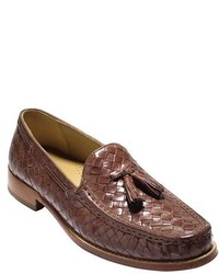 Cole Haan Brady Woven Leather Tassel Loafer