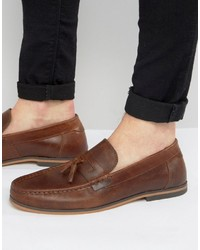31e72c332df Men s Brown Leather Tassel Loafers by Asos