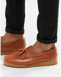 Walk London Windsor Leather Tassel Loafers