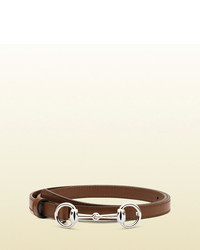 Brown Leather Waist Belt